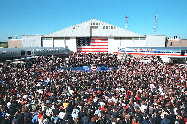 President Bush Speaking at O'Hare airport 27 September 2001