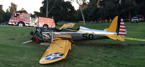 Left side view of Harrison Ford Santa Monica accident.