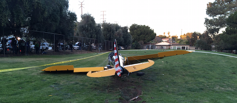 Rear view of Harrison Ford Santa Monica accident.