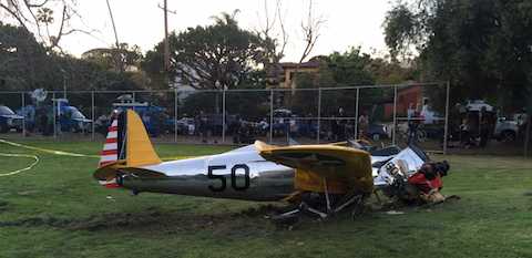 Right side view of Harrison Ford Santa Monica accident.