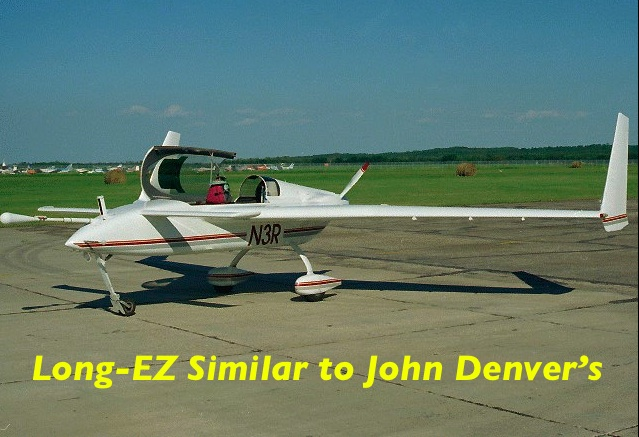 Photo of Long-EZ similar to John Denver's accident aircraft