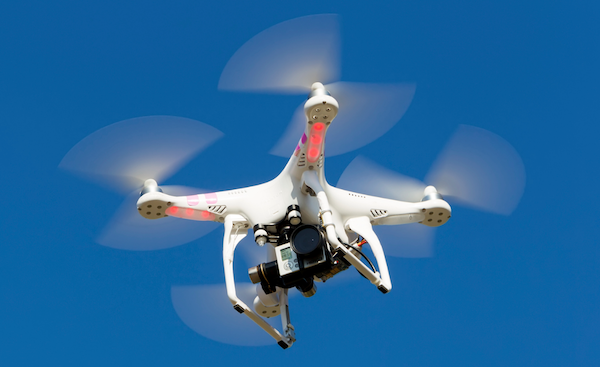 Typical quadcopter drone