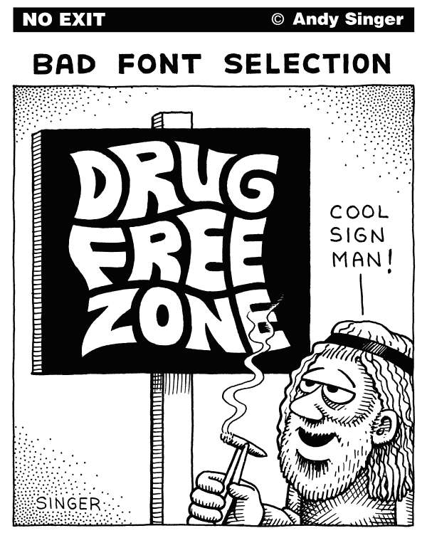Andy Singer: Bad Font Selection