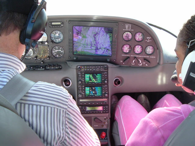 Interior view of a Cirrus SR-20