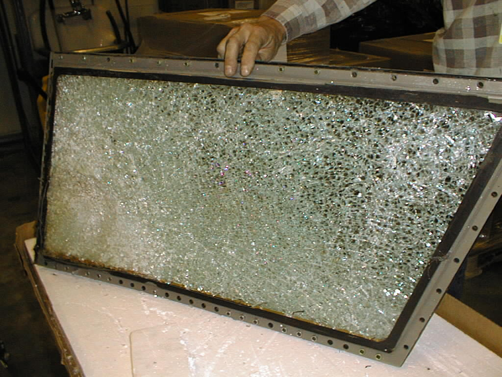 Damage to 737-400 cockpit window from Canada Goose
